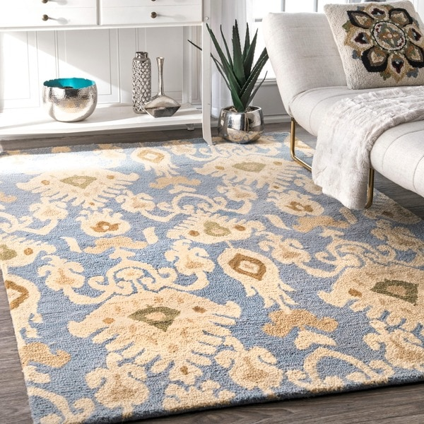 Shop Nuloom Handmade Ikat Wool Area Rug 7396quot X 9396quot On
