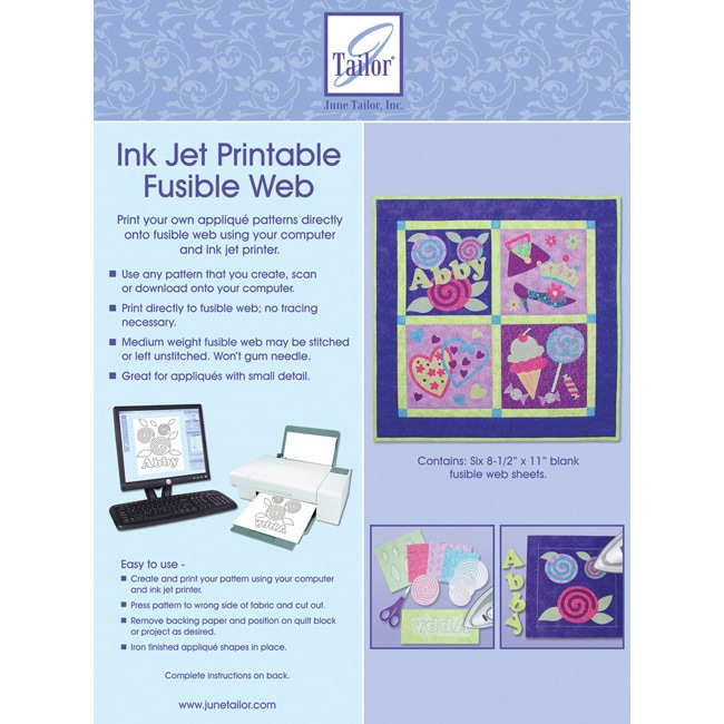 Ink Jet Printable Fusible Web (Pack of 6) on PopScreen