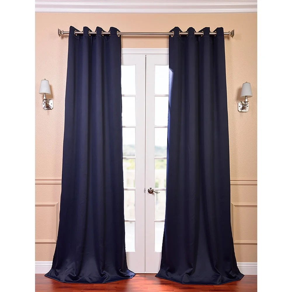 108 Inch Curtain Panels Eclipse Blue Thermal Blackout 108 Inch Curtain 8 Grommet Panel Pair