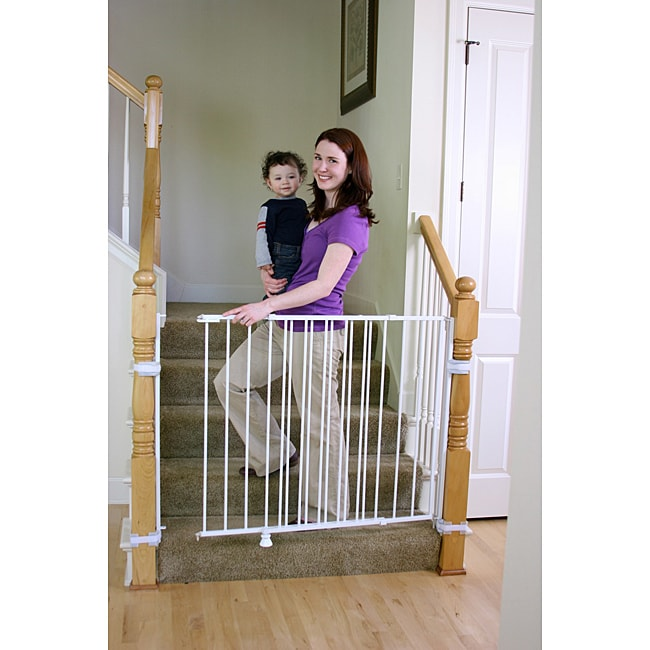 Regalo Top Of Stairs 2 In 1 Extra Tall Safety Gate Free