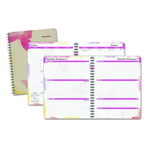 Shop AT-A-GLANCE Watercolors Weekly/Monthly Planner, 8 1/2 x 11