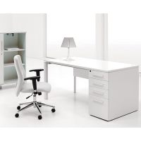 Shop Jesper Office White Lacquer Study Desk with Drawers ...