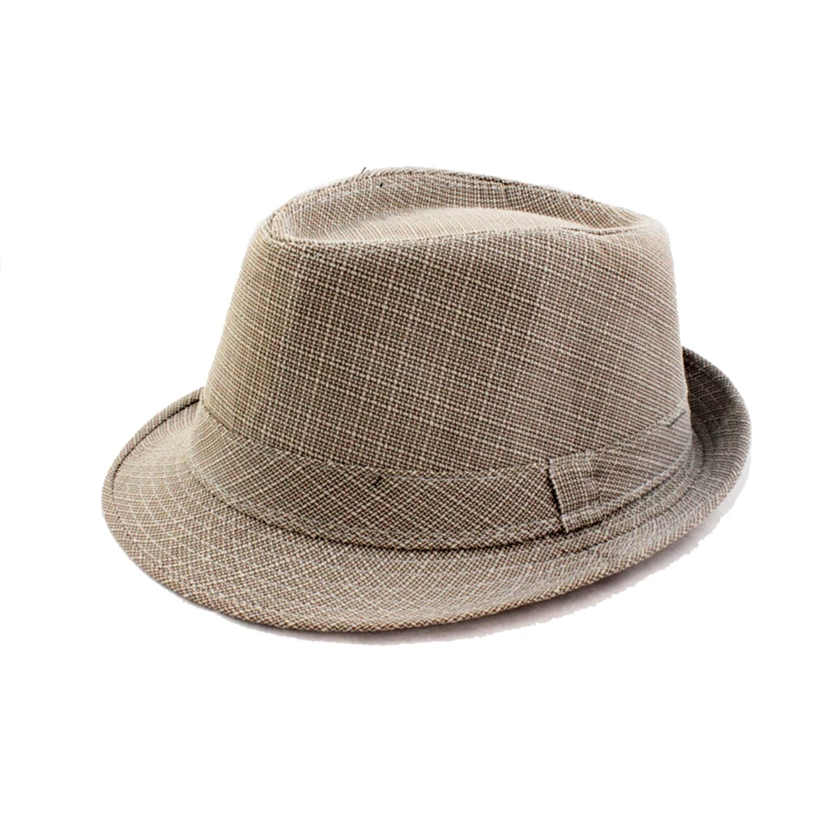 Plaid Taupe Faddism Taupe White Plaid Fedora Hat
