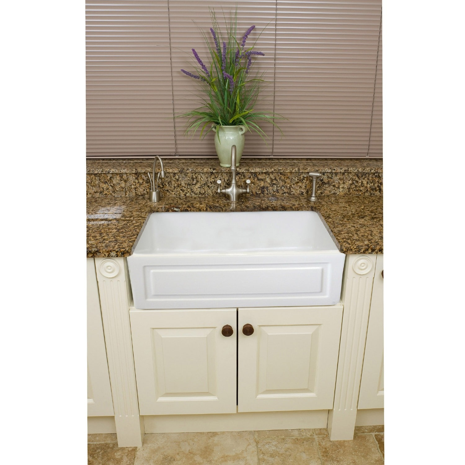 Overstock Farmhouse Sink Somette Fireclay French 29 Inch White Farmhouse Kitchen