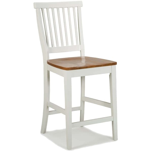 Eleanor Kitchen Island White Distressed Oak Bar Stool By Home Styles - Free