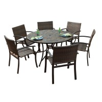 Shop Stone Harbor Large Round Dining Table and Newport Arm ...