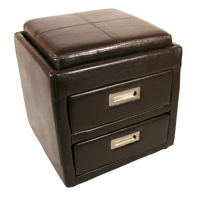 Paris Bedside Ottoman With 2 Drawers And Tray Top Free