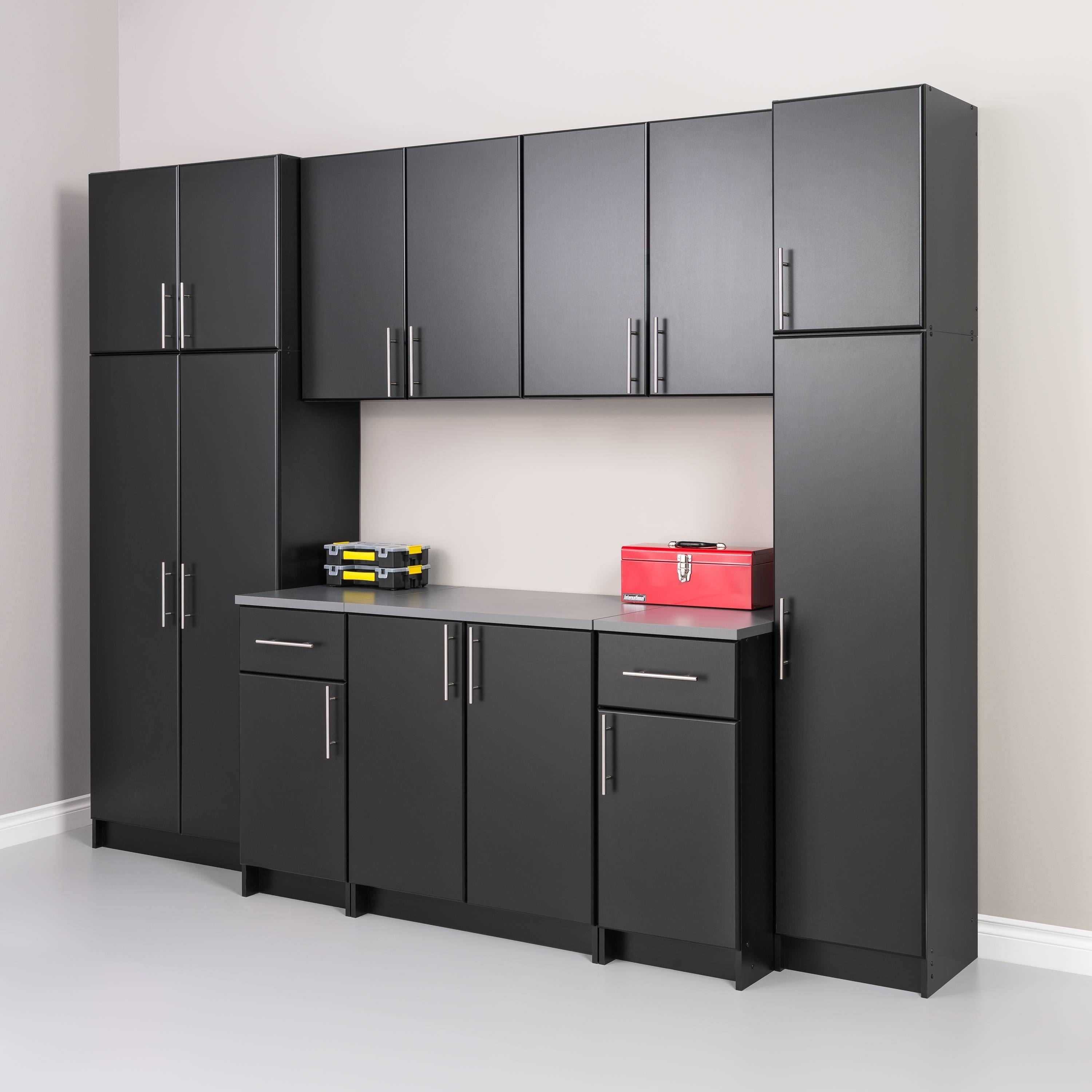 Garage Cabinets By George Prepac Winslow Elite 32 Inch Storage Cabinet Multiple Finishes