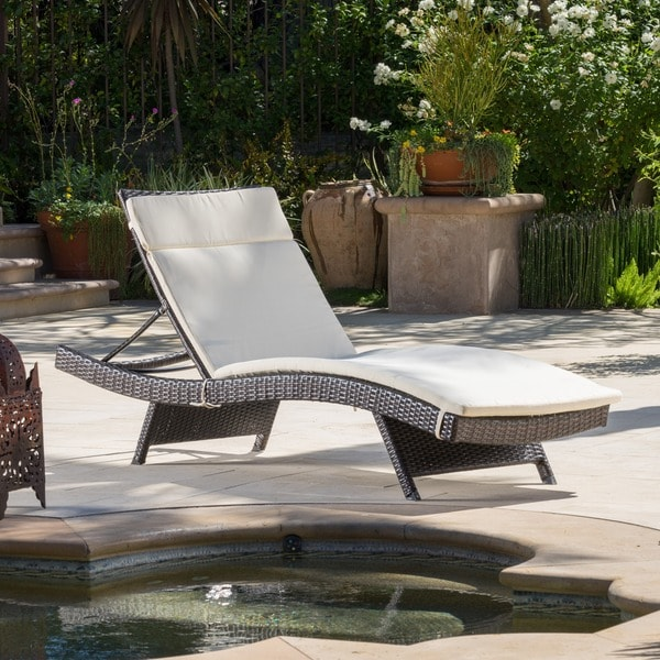 Shop Toscana Outdoor Brown Wicker Adjustable Chaise Lounge