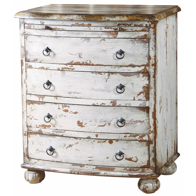 Distressed furniture white hand painted distressed antique white chest