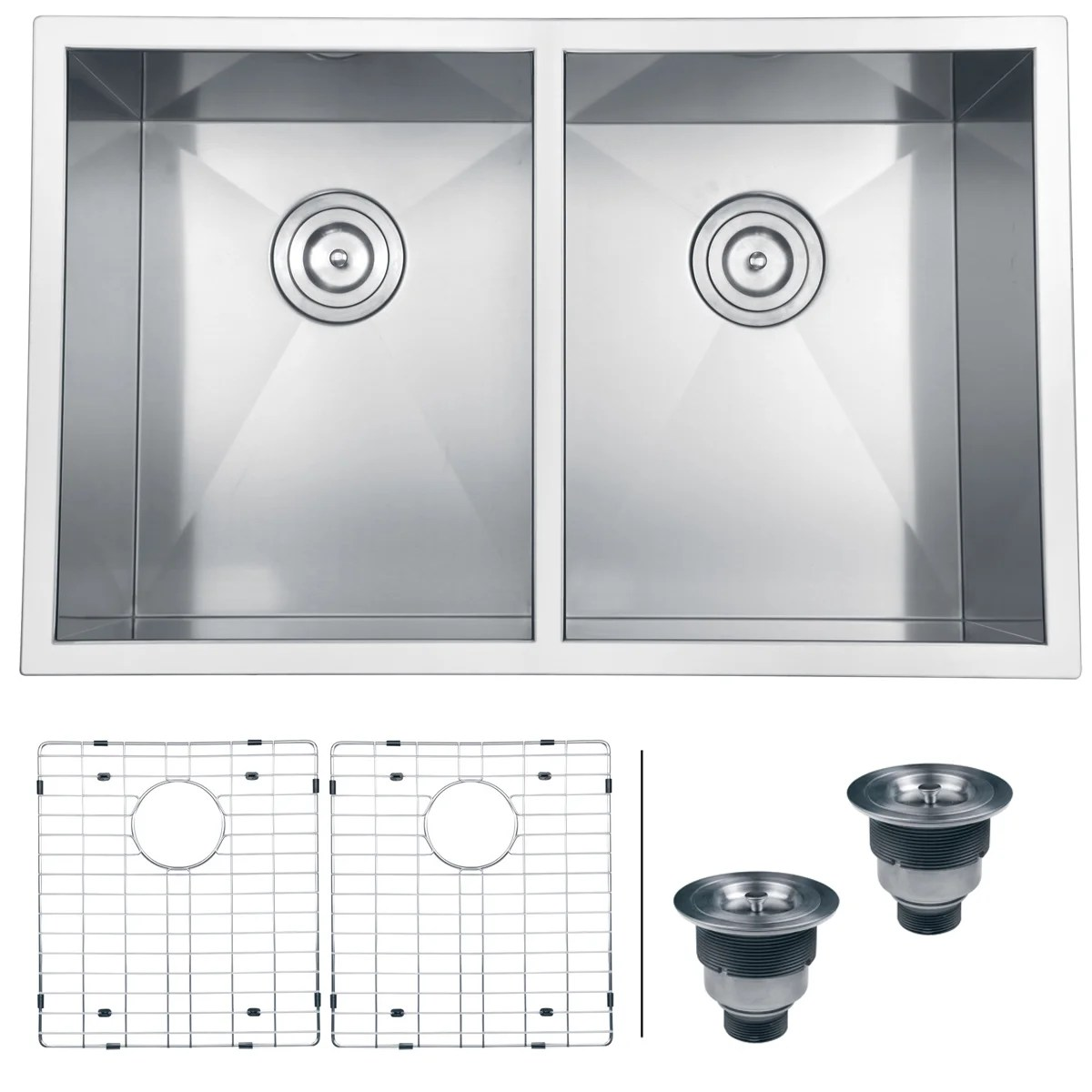 Overstock Farmhouse Sink Ruvati 16 Gauge Stainless Steel 30 Inch Double Bowl