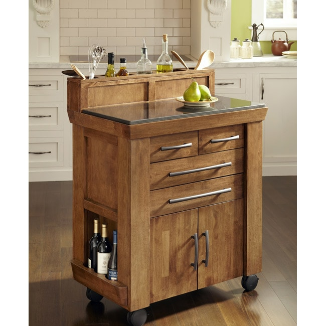 Catskill Craftsmen Kitchen Island The Vintage Gourmet Kitchen Cart By Home Styles - Free