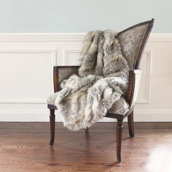 Shop Aurora Home Wild Mannered Luxury Long Hair Faux Fur 58 x 36