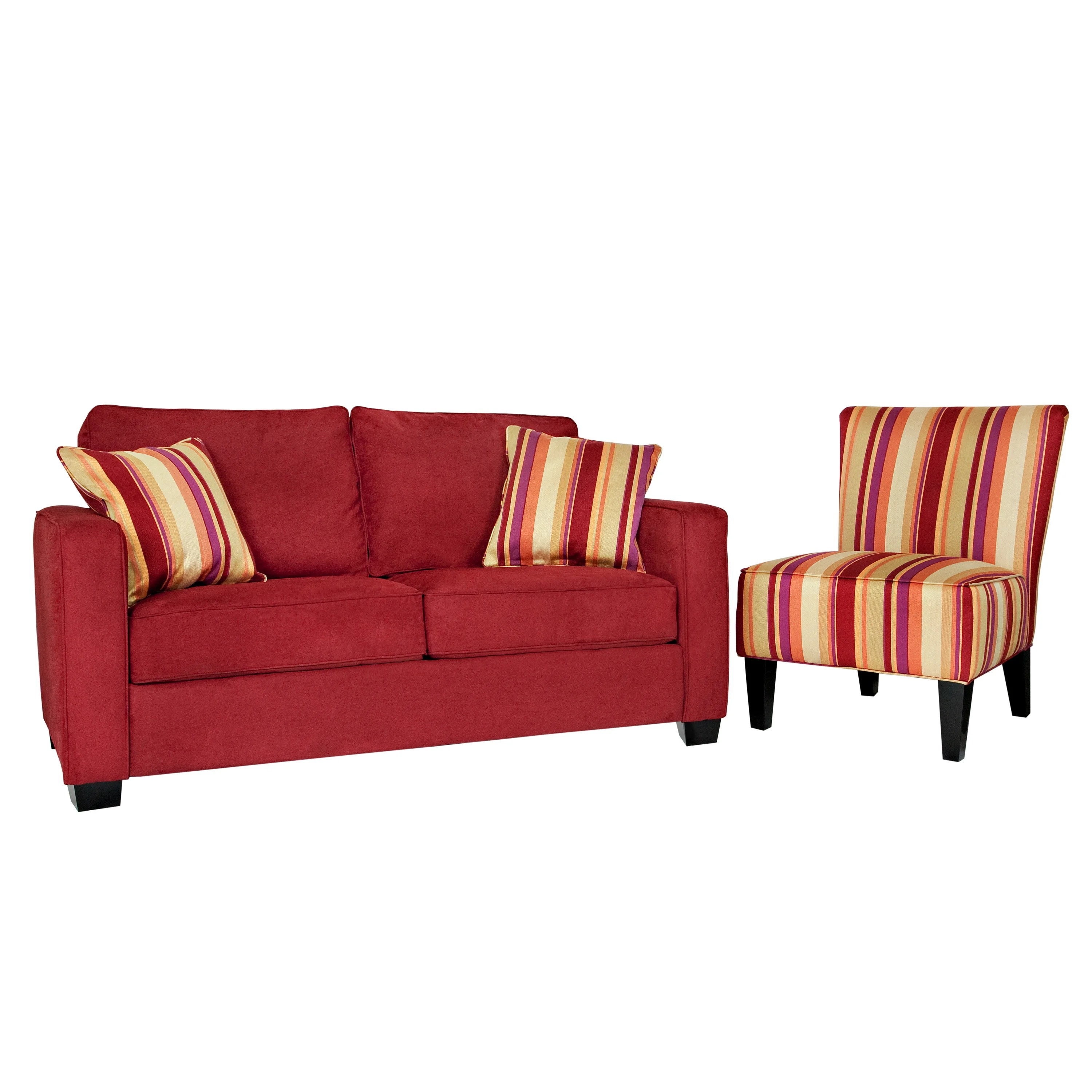 Red Striped Chair Portfolio Madi Crimson Red Sofa And Hali Striped Wine