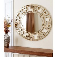 Abbyson Pierre Gold Round Wall Mirror - Free Shipping ...
