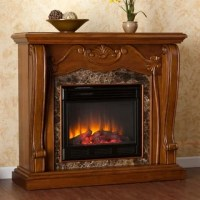 Sandro Walnut Electric Fireplace - Overstock Shopping ...