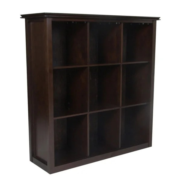 Shop Wyndenhall Stratford Espresso Brown 9 Cube Bookcase