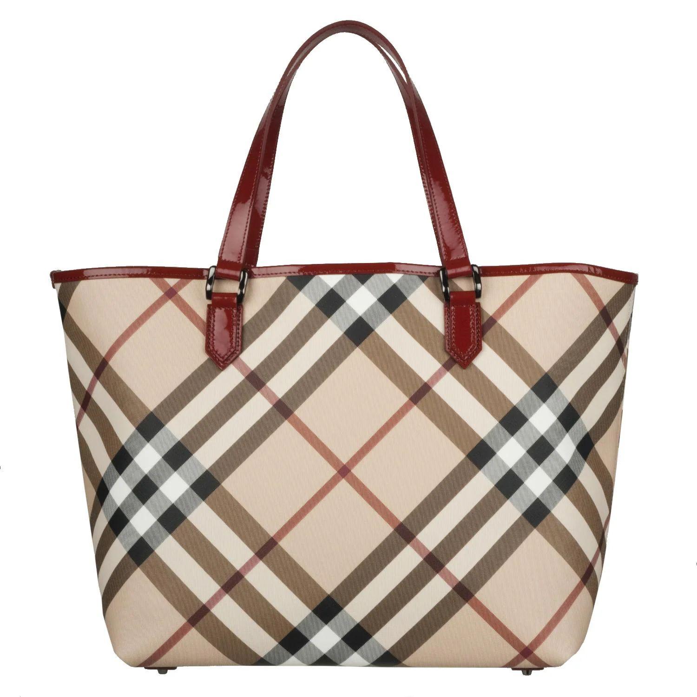 Burberry 3753178 nova check large pvc tote bag