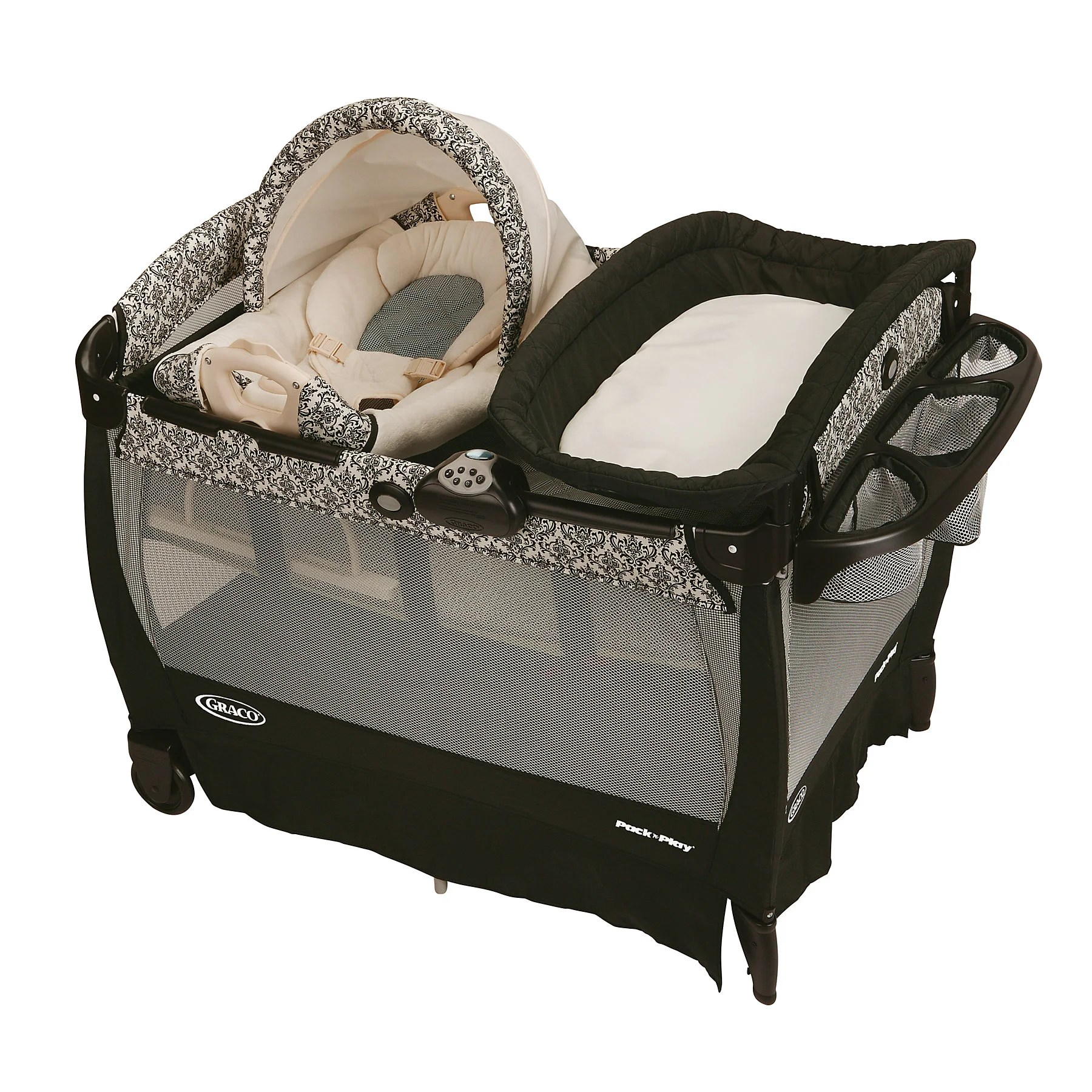 Graco Newborn Bassinet Graco Cuddle Cove Pack N Play Playard With Newborn Rocker And Changer In Rittenhouse