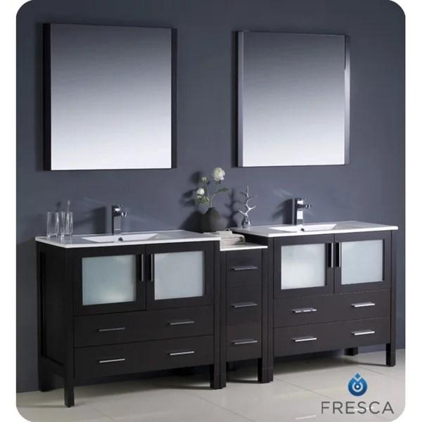 Fresca Torino 84 Inch Espresso Modern Double Sink Bathroom