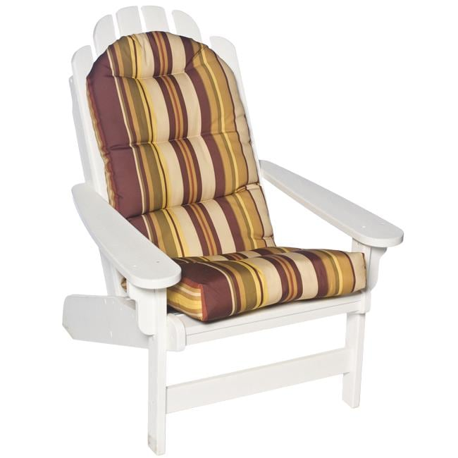 shop adirondack olive stripe outdoor chair cushion
