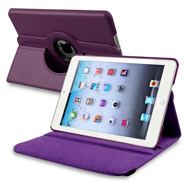 Ipad Mini Cover Shop Insten Purple Leather Swivel Tablet Case Cover For