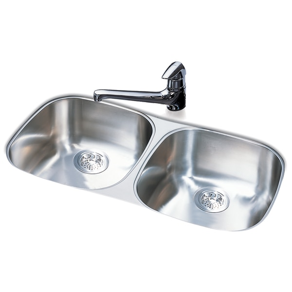 Franke Double Bowl Stainless Steel Undermount Sink Free