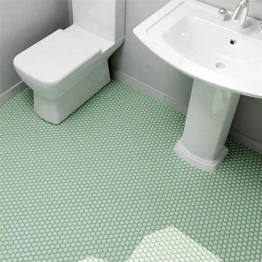 Shop Somertile 10 25x11 75 Inch Victorian Hex Matte Light Green Porcelain Mosaic Floor And Wall Tile 10 Tiles 8 56 Sqft Overstock 7583035