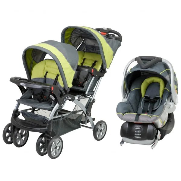 Double Buggy Out N About Baby Trend 39;sit N Stand 39; Double Stroller Travel System In