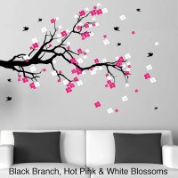 Cherry Blossom Branch with Birds Vinyl Wall Art Decal ...