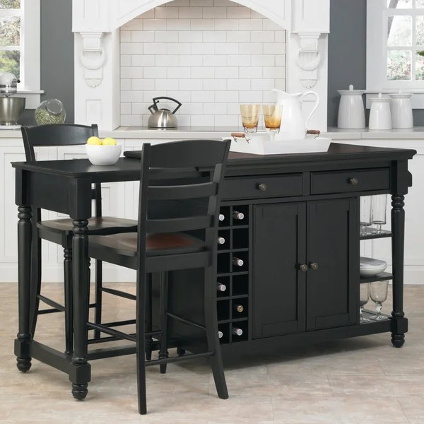 Kosas Home Kitchen Island Grand Torino Kitchen Island And Two Stools By Home Styles