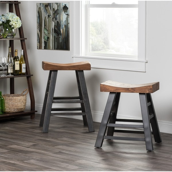 Kosas Home Kitchen Island Myrna Reclaimed Pine 24-inch Counter Stool By Kosas Home