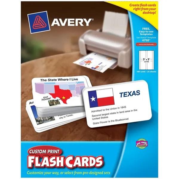 Shop Avery® Inkjet, Laser Print Printable Flash Card - Free Shipping