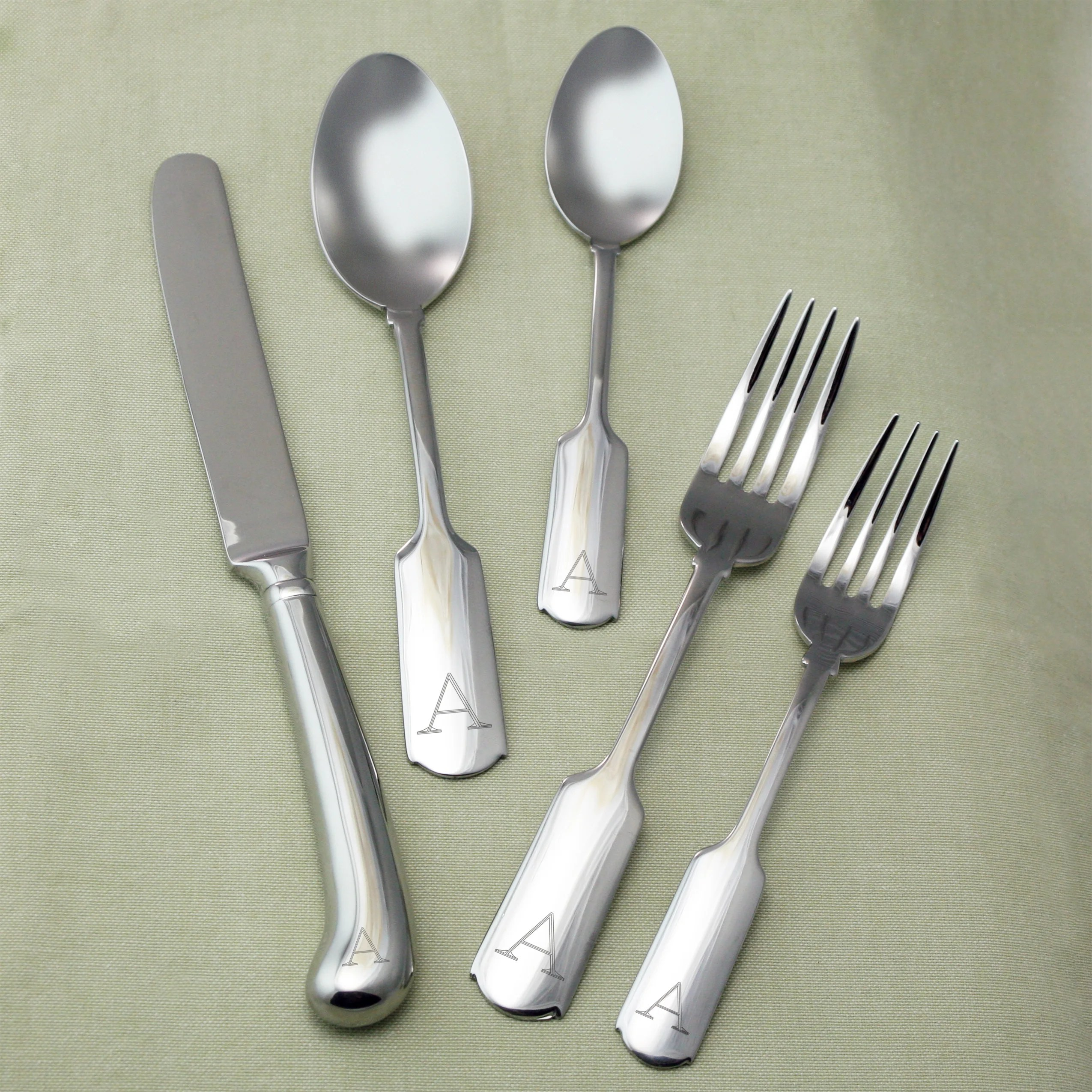 Best Deal On Silverware Fenmore Personalized 45 Piece Stainless Steel Flatware Set