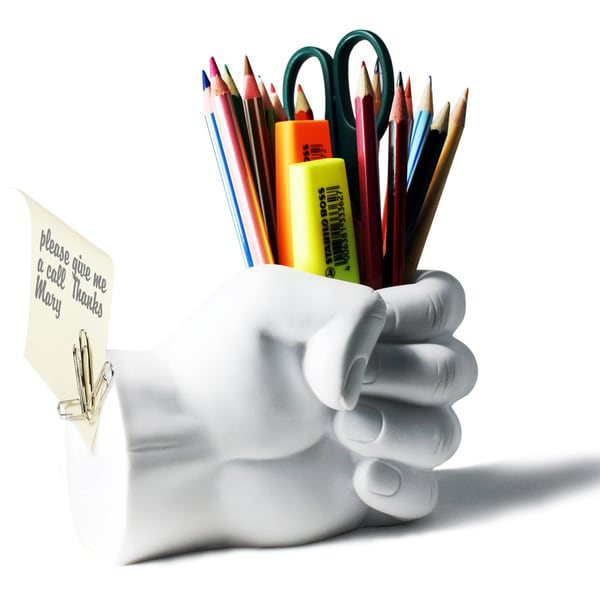 Shop Fist Pen Holder with Paper Clip Magnet - Free Shipping On