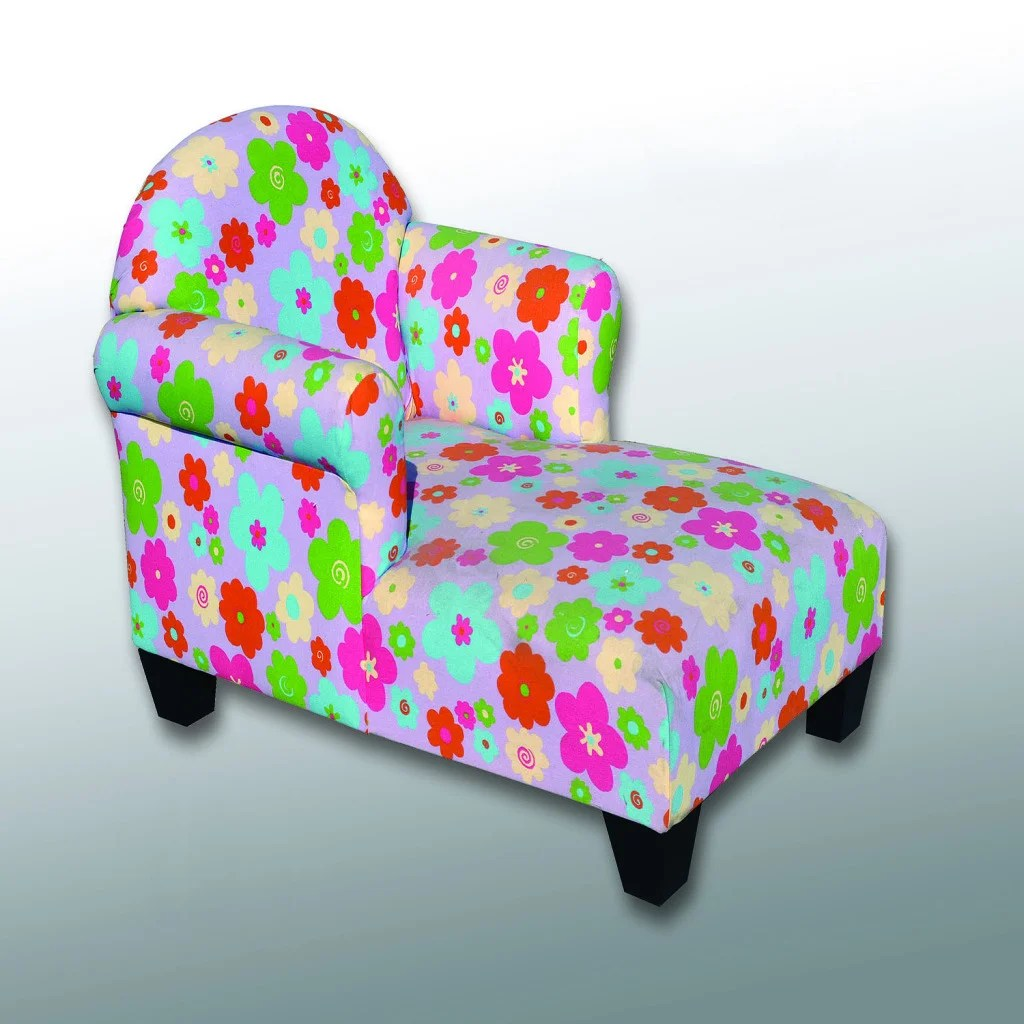 Kids Chaise Lounge Chair Addison Children 39s Flowered Two Arm Chaise Lounge Chair