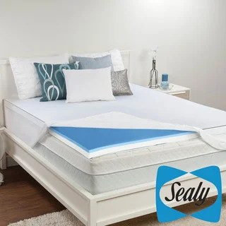 Sealy 3 Inch Memory Foam And Surface Gel Mattress Topper