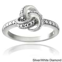 DB Designs Sterling Silver Diamond Accent Love Knot ...