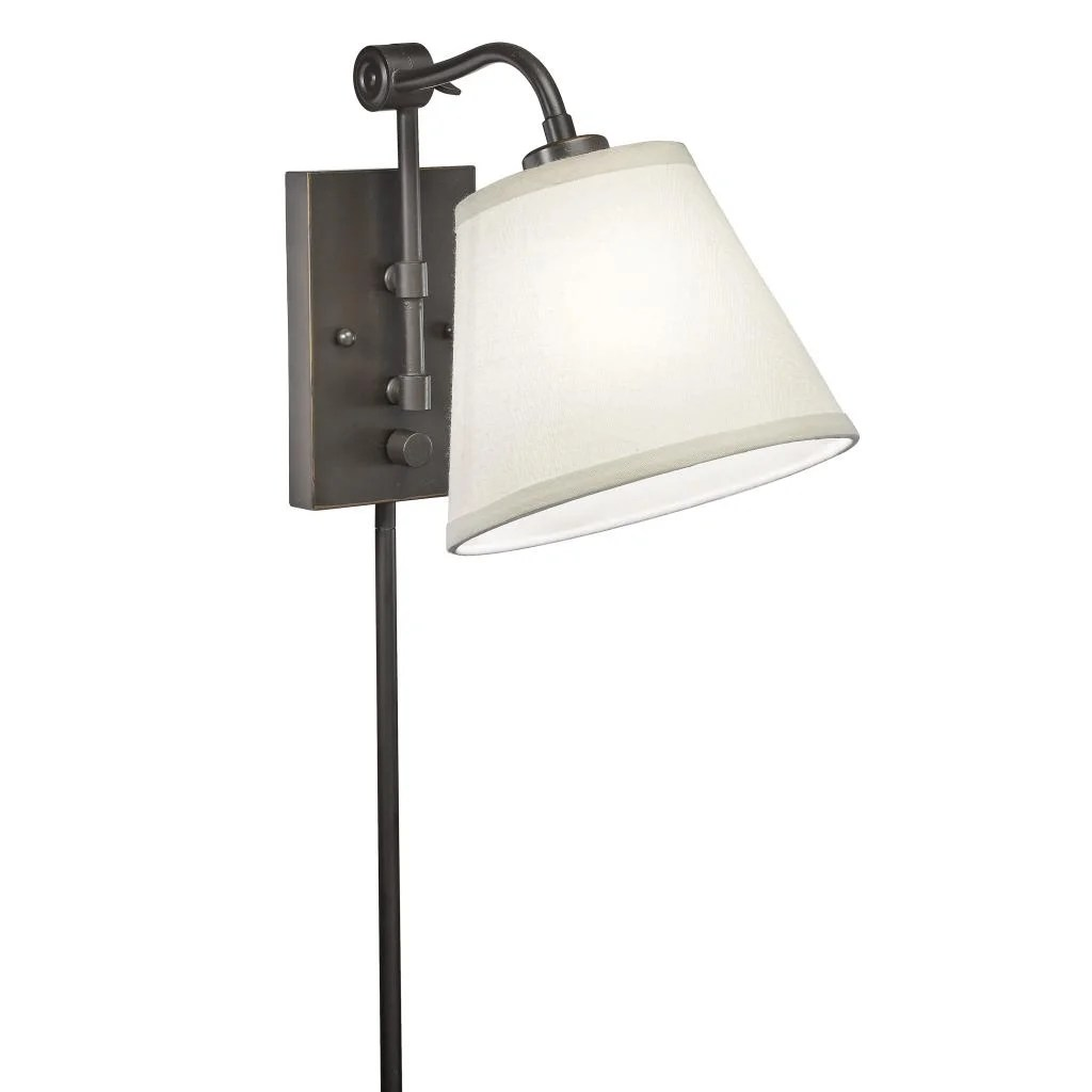 Wall Swing Arm Lamps Plug In Swing Arm 1 Light Plug In Bronze Wall Lamp Overstock