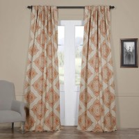 Moroccan-style Thermal Insulated Blackout Curtain Panel ...