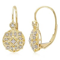 Miadora 14k Yellow Gold 1/8ct TDW Diamond Vintage Cluster