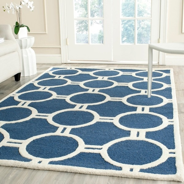 Safavieh Handmade Moroccan Cambridge Navy Ivory Circle