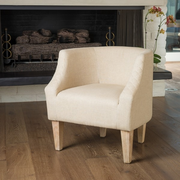 Shop Christopher Knight Home Baley Dark Beige Fabric Club