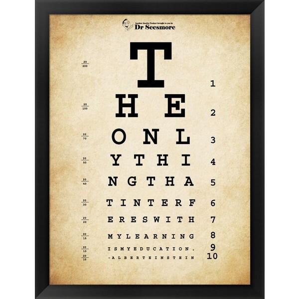 Shop \u0027Einstein Eye Chart\u0027 Framed Art - On Sale - Free Shipping Today