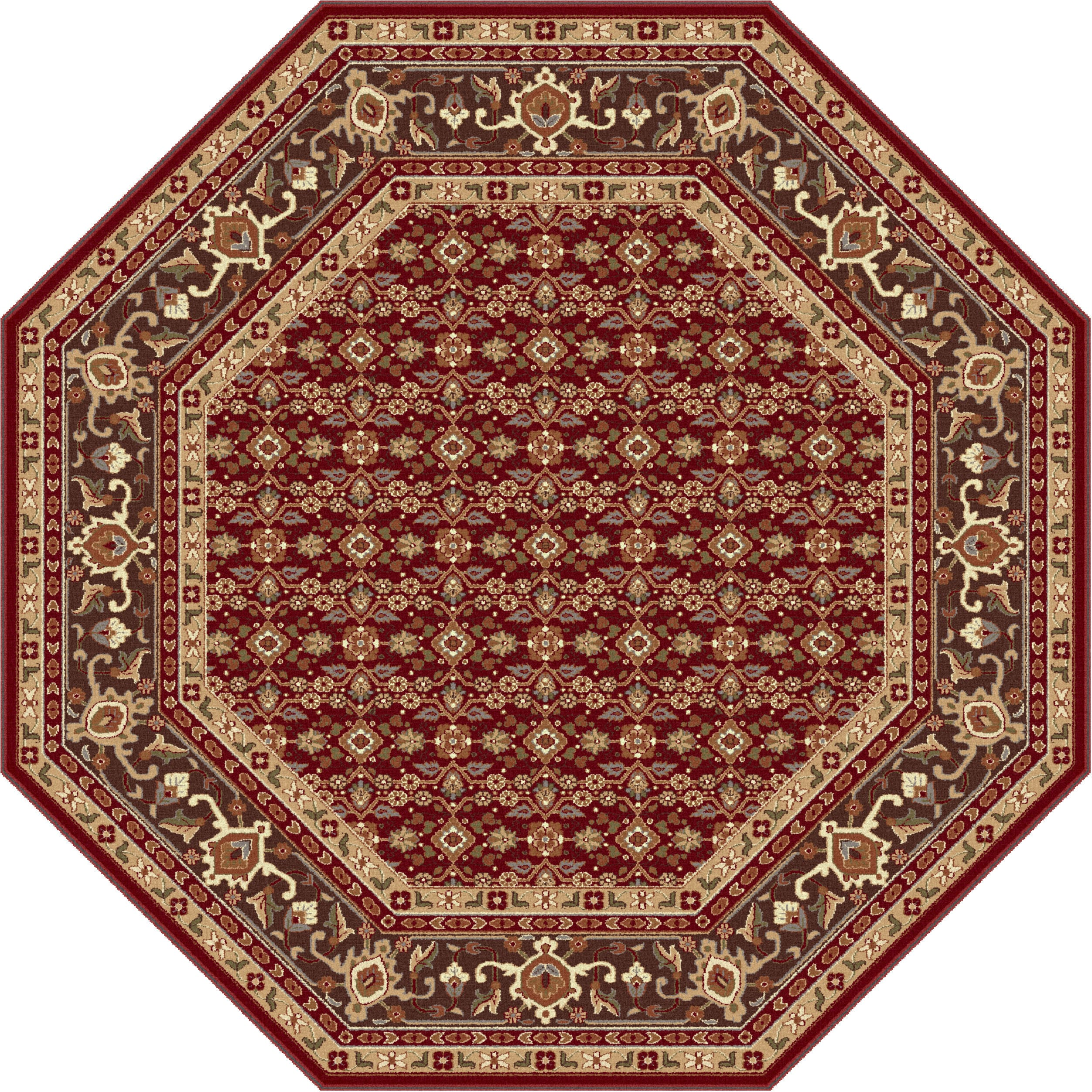 Sensation 4820 Octagon Transitional Area Rug 5393