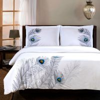 Superior Peacock 3-piece Embroidered Cotton Duvet Cover ...