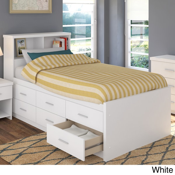 Sonax 2 piece single twin captain s storage bed set with