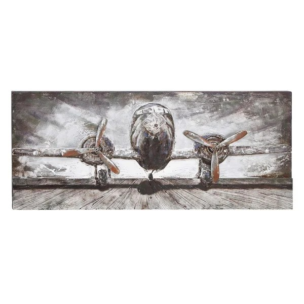 Shop Wood/ Metal Airplane Wall Decor