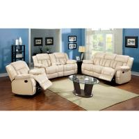 Shop Furniture of America Barbz 2-Piece Bonded Leather ...
