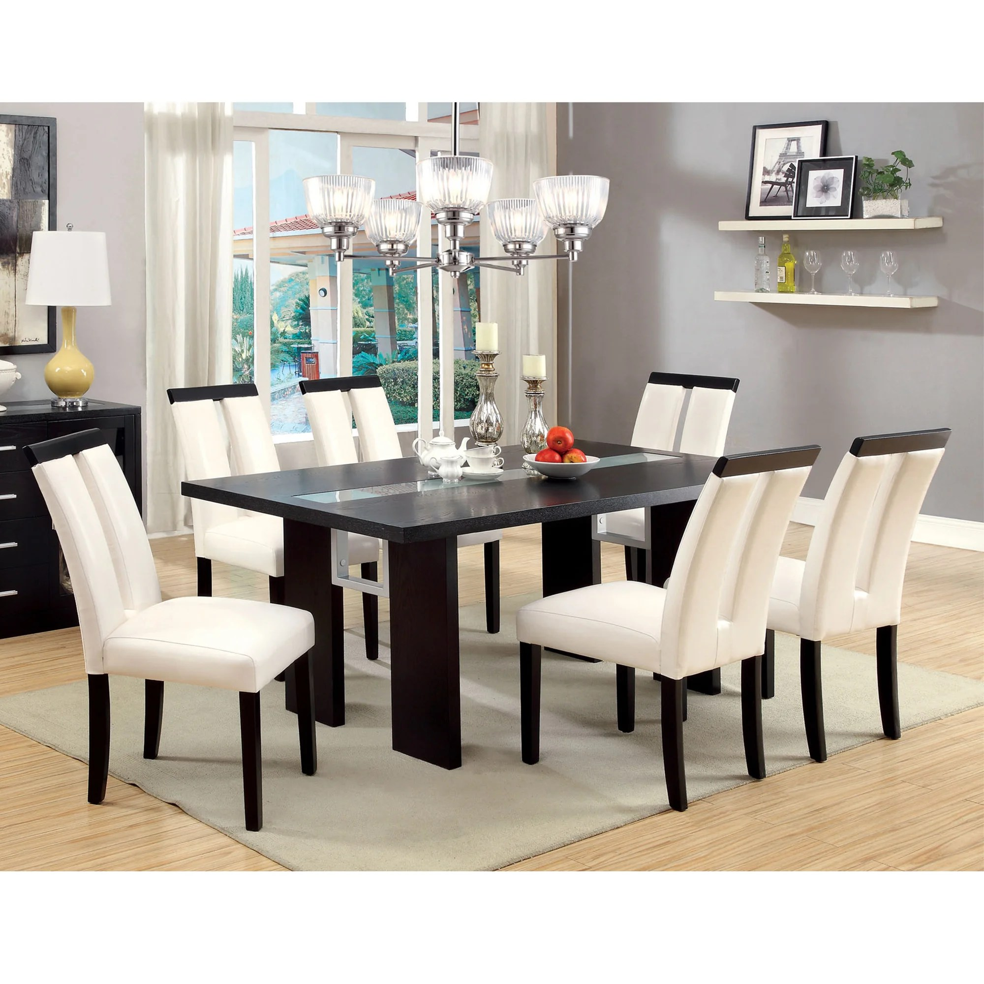 Furniture Overstock Shop Furniture Of America Lumina 7 Piece Light Up Two Tone Dining